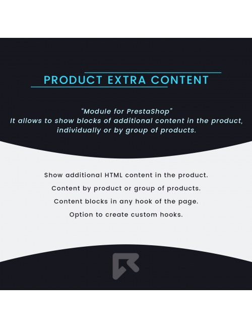 Module Product Extra Content for PrestaShop