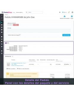 Admin order of the module FedEx Carrier for PrestaShop