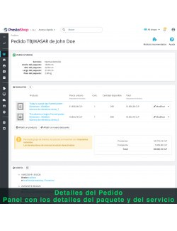 Order details of the module Starken for PrestaShop