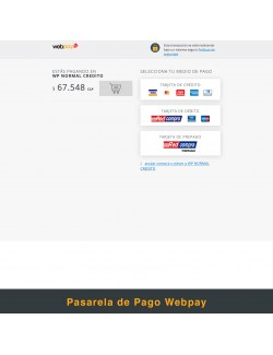 Payment gateway of the module Webpay Plus (Transbank) Module for PrestaShop